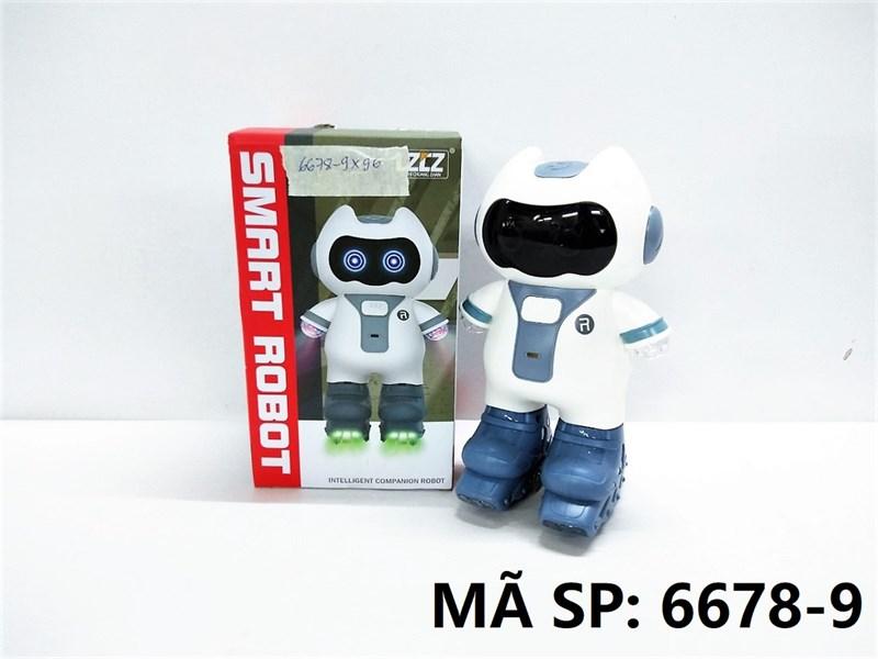 6678-9 HỘP ROBO TRƯỢT BĂNG PIN NHẠC ĐÈN NHẢY DANCING Smart Robot