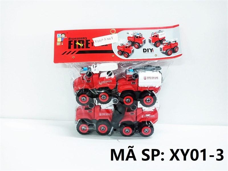 XY01-3 TÚI XE CT CỨU HỎA TRỚN 4C ĐỦ MẪU + ỐC VÍT (PVC) Fire Truck