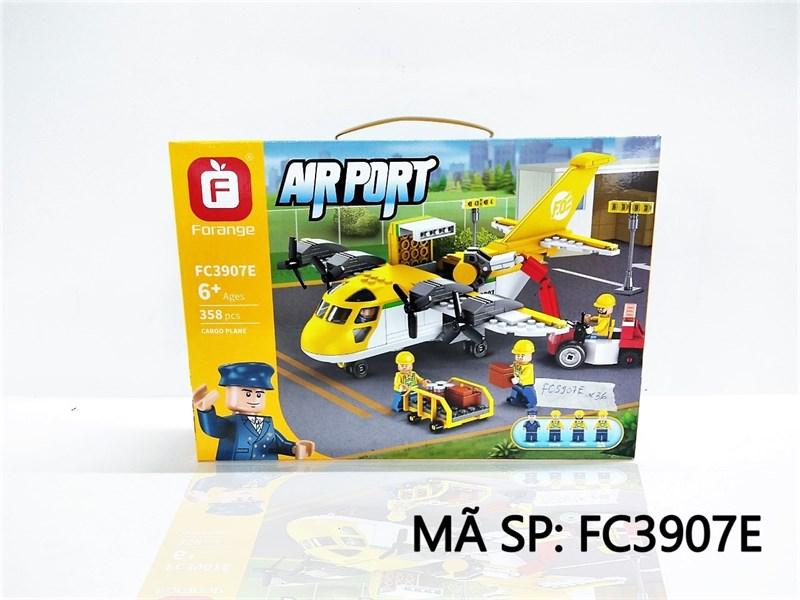 FC3907E HỘP LOGO RÁP MÁY BAY 358 MIẾNG AIRPORT