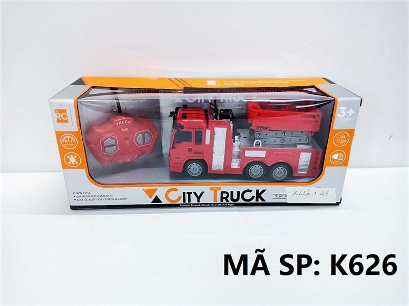 K626 HỘP XE CT CỨU HỎA THANG ĐK 7 Đ.TÁC, CÓ SẠC USB City Truck
