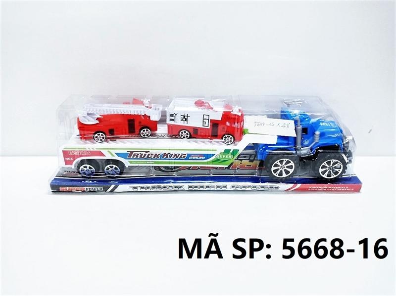 5668-16 HỘP KIẾNG XE CONTAINER TRỚN CHỞ 2C XE CỨU HỎA THANG Truck High Speed
