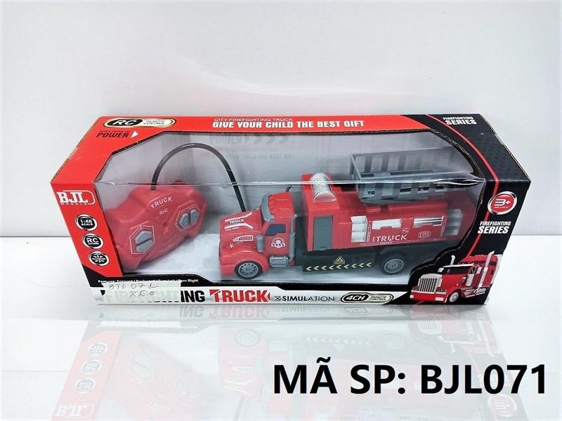 BJL071 HỘP XE CT CỨU HỎA THANG ĐK 7 Đ.TÁC, KHÔNG SẠC TL 1:48 Firefighting Truck