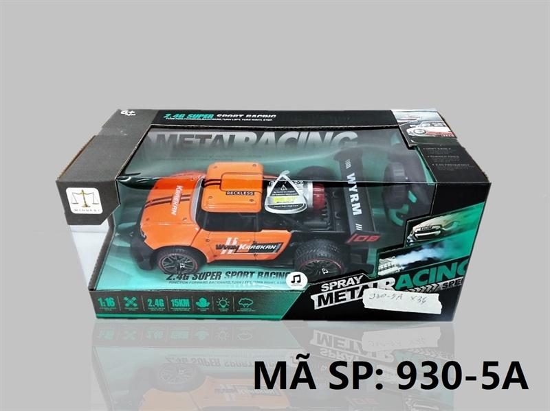 930-5A HỘP XE BÁN TẢI SẮT ĐK 7 Đ.TÁC, CẦN GẠT XOAY, CÓ SẠC, PHUN KHÓI TL 1:16 Spray Metal Racing 930-8A