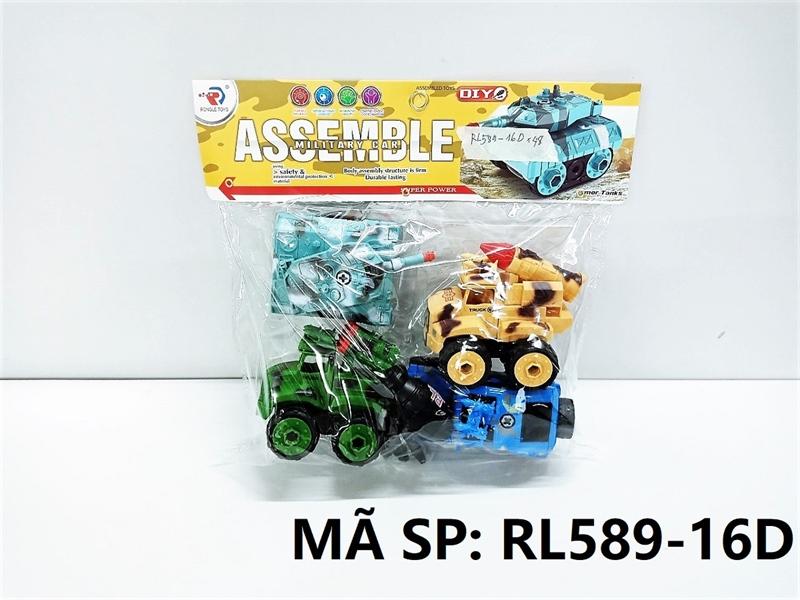 RL589-16D TÚI XE QUÂN SỰ TRỚN 4C ĐỦ MẪU + ỐC VÍT (PVC) Assemble