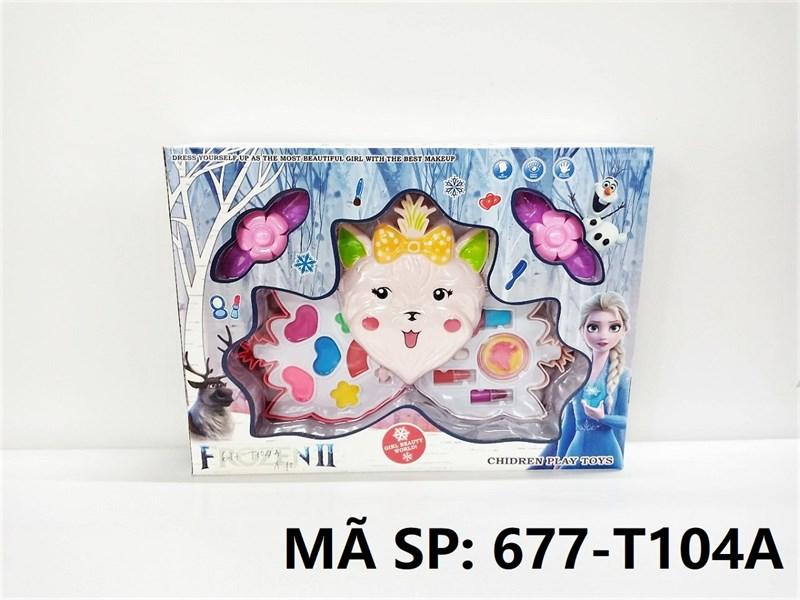 677-T104A HỘP PHẤN TRANG ĐIỂM 2 TẦNG MÈO Frozen II