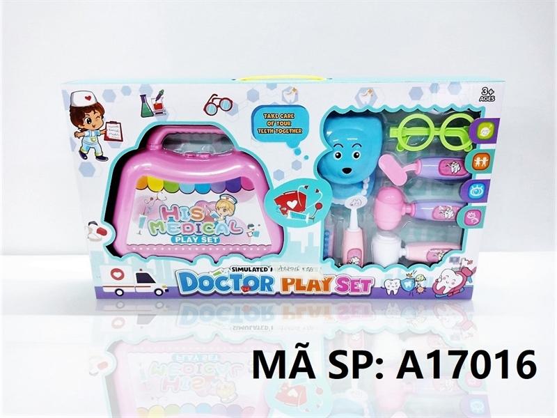 A17016 HỘP BÁC SĨ RĂNG, VALI, MẮT KIẾNG Doctor Play Set