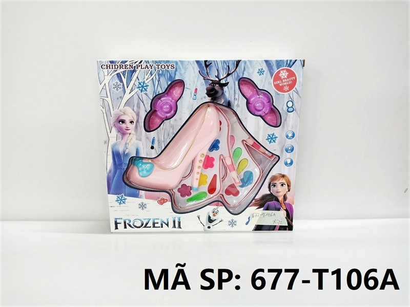 677-T106A HỘP PHẤN TRANG ĐIỂM 2 TẦNG GIÀY Frozen II