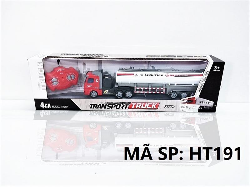 HT191 HỘP XE CT BỒN GAS DÀI ĐK 7 Đ.TÁC, CÓ SẠC TL 1:48 Transport Truck HT190-HT202