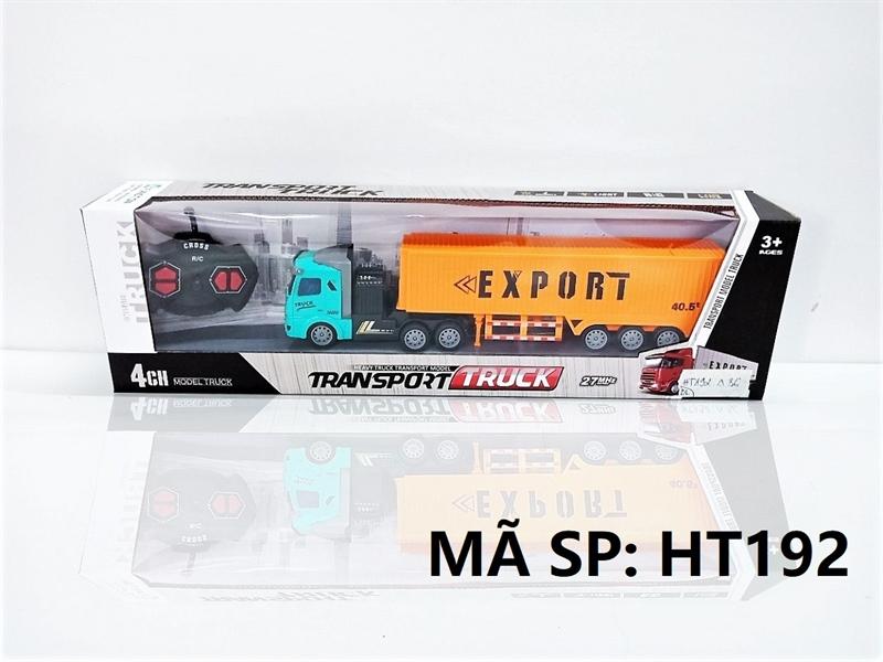 HT192 HỘP XE CT CONTAINER DÀI ĐK 7 Đ.TÁC, CÓ SẠC TL 1:48 Transport Truck HT190-HT202
