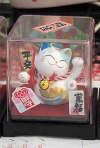 Mèo Thần tài Jinshi ngồi hộp 6 - Tai xanh dương - C6006
