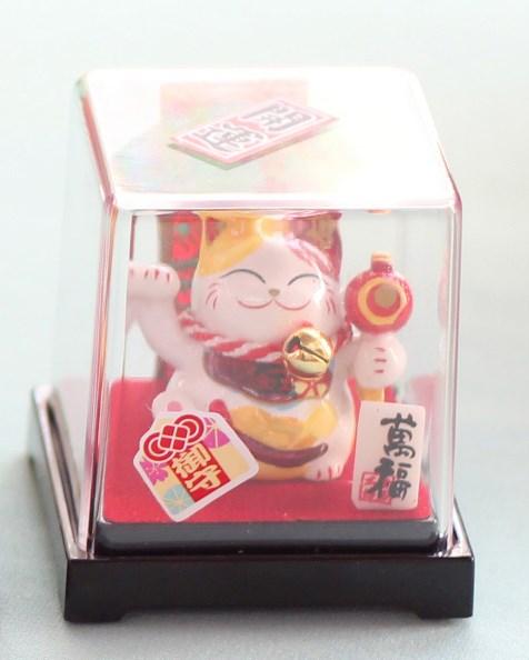Mèo Thần tài Jinshi ngồi hộp 5 - Tai vàng - C6003