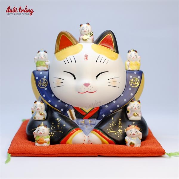 Mèo Thần tài Yakushigama Thất Phúc Thần Fukusuke 17cm YSY-7202