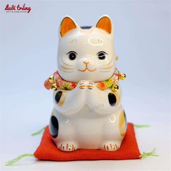 Mèo Thần tài Yakushigama thi lễ Seiza 15,5cm YSY-7290