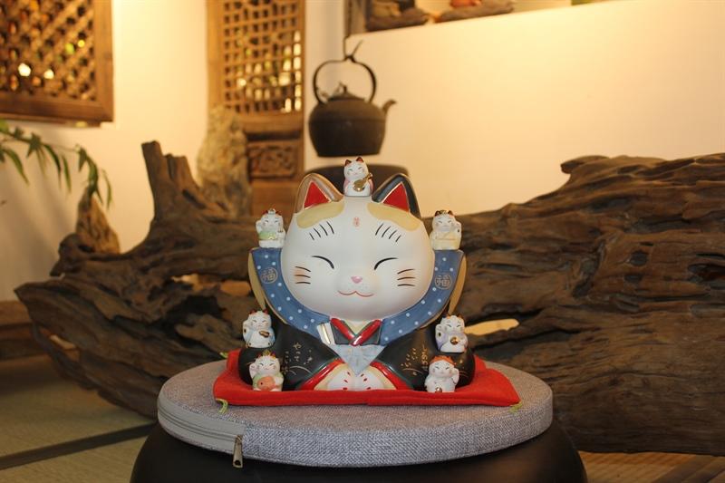 Mèo Thần tài Yakushigama Fukusuke Thất Phúc Thần 23cm (size đại) - YSY-7539