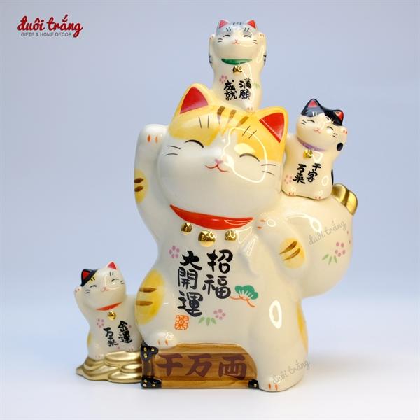 Mèo Thần tài Yakushigama Đeo túi Mèo con 19,5cm YSY-7448