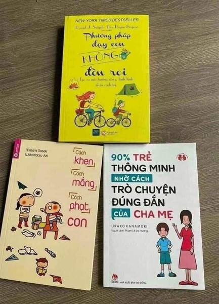 set 3 sách kỹ năng dạy con