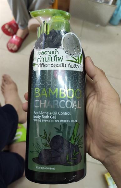 sữa tắm bamboo charcoal trị mụn lưng 500ml