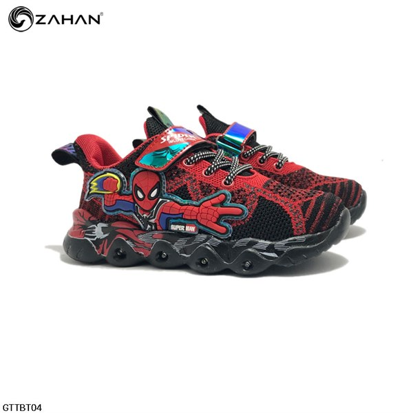 Giày thể thao bé trai người nhện đèn GTTBT04