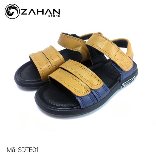 Sandal bé trai 2 quai phối màu SDTE8019T