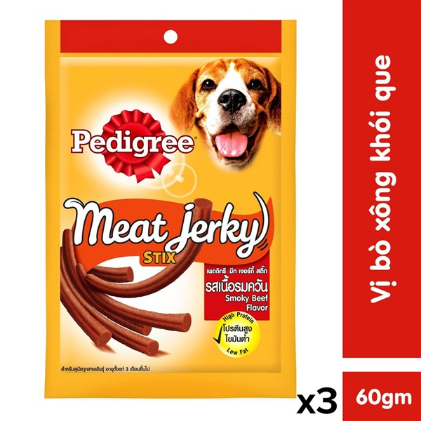 Thức Ăn Vặt Chó Pedigree Bò Xông Khói (80g)