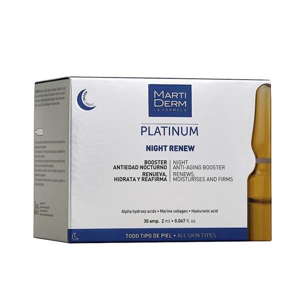 MartiDerm Night Renew - Ampoule AHA & Collagen giảm dày sừng và trẻ hóa (2ml x 30ea)