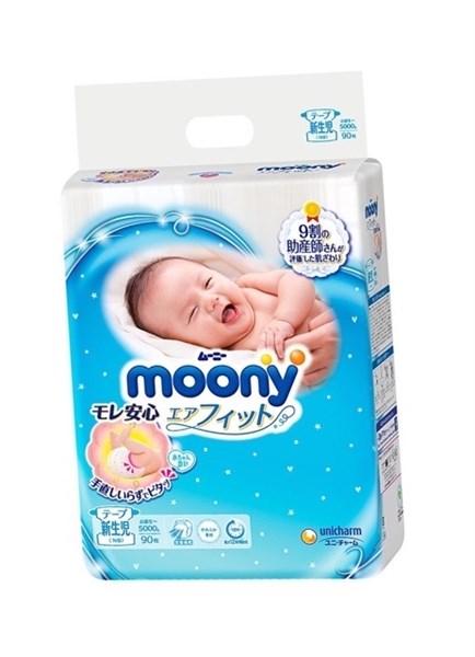 Bỉm Moony NB90 dán