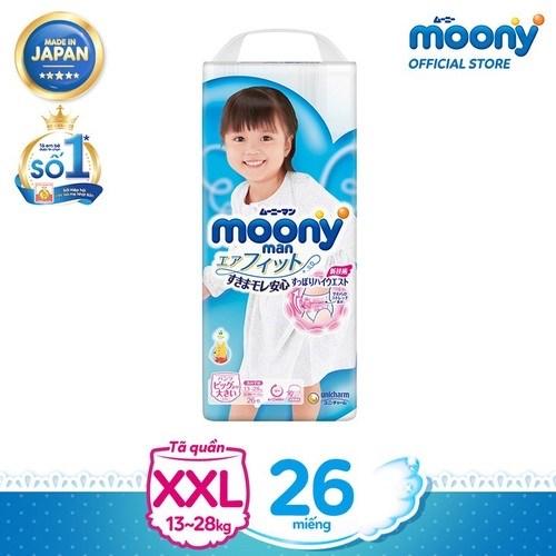 Bỉm Moony XXL26 quần gái