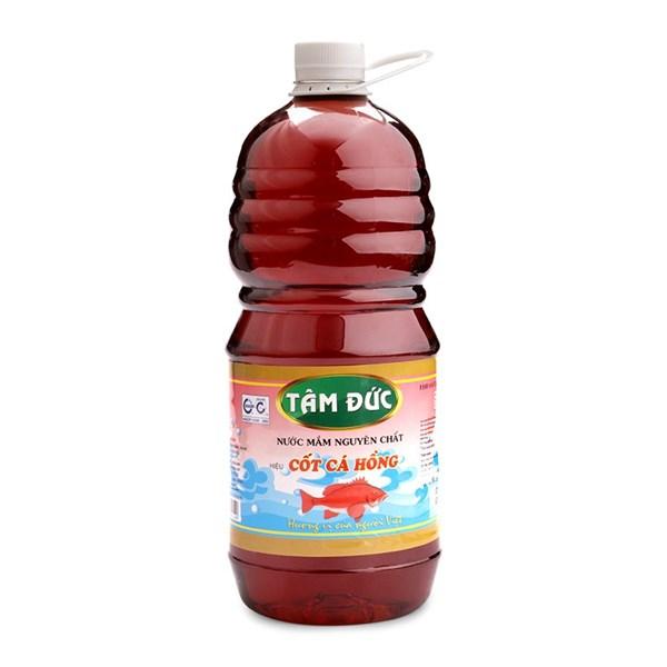 Nước mắm cốt cá hồng Tâm Đức chai 1 lít