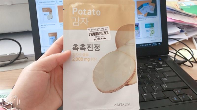 Mặt nạ dưỡng da chiết xuất khoai tây ARITAUM 20ml