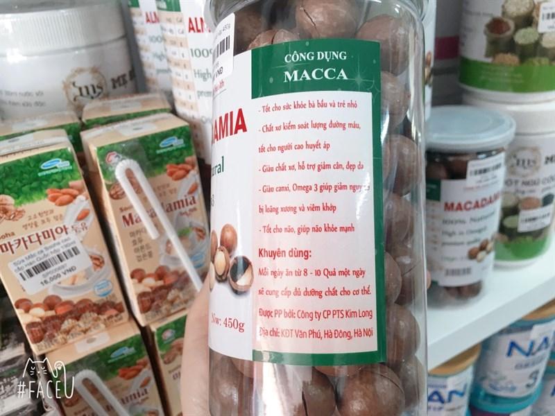 Hạt Macca nứt vỏ hộp 450g