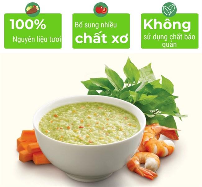 Cháo tươi Baby SG Food Tôm rau ngót Nhật cà rốt