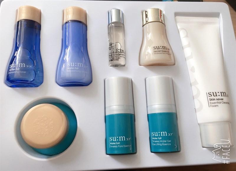 Set Sum37 Water-full 8 sản phẩm cho da dầu - Hàng xách tay Hàn