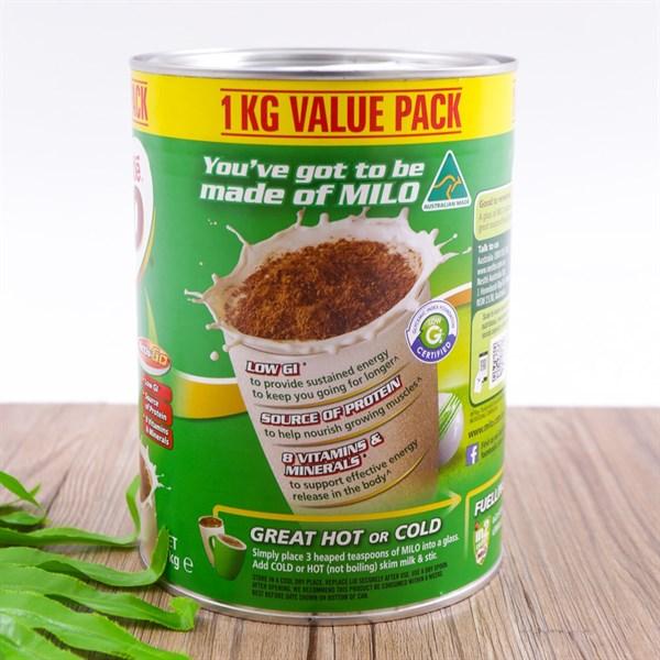 Sữa Milo Value Pack Úc 1kg (>2 tuổi)-Hàng Xách Tay