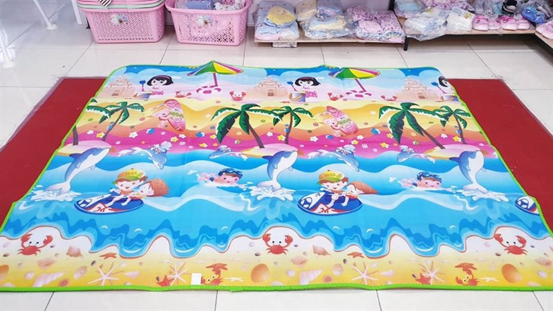 Thảm nằm chơi 2 mặt dày cao cấp Maboshi 1.6x2m