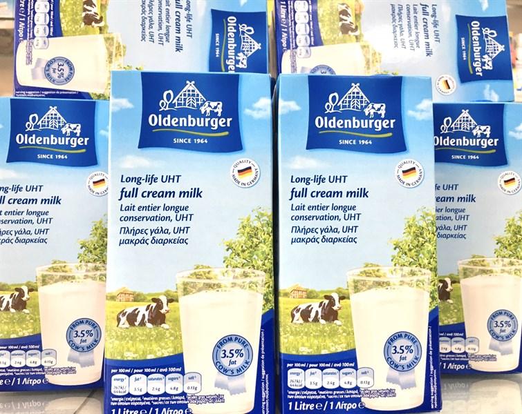 Sữa tươi nguyên kem Đức 1L Oldenburger