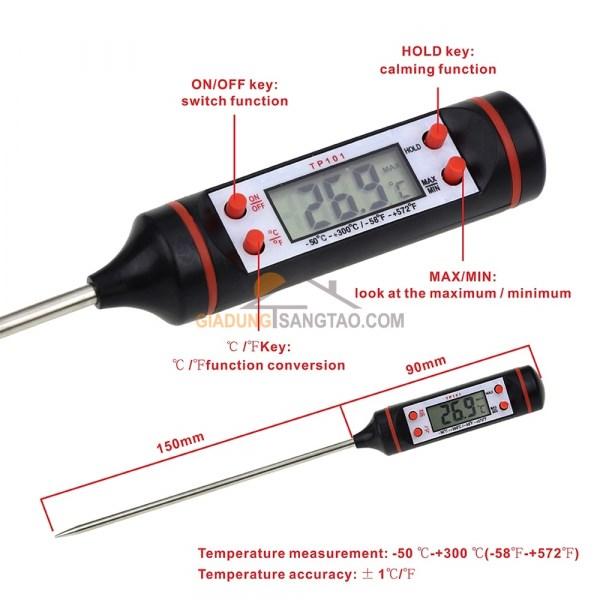 Nhiệt kế đo nhiệt độ sữa - thực phẩm TP101