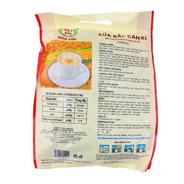 Sữa bắp canxi Việt Đài túi 600g