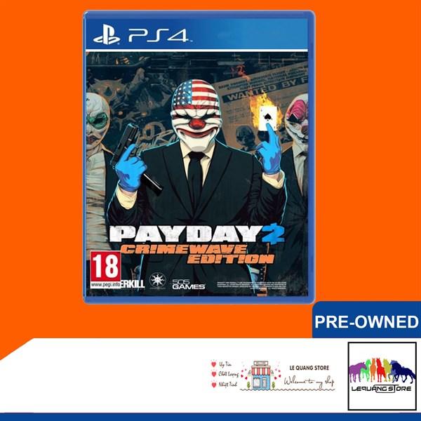 Đĩa Game PS4: Payday 2 Crimewave Edition