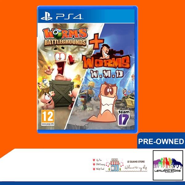 Đĩa Game PS4: Worms Battleground and Worms WMD