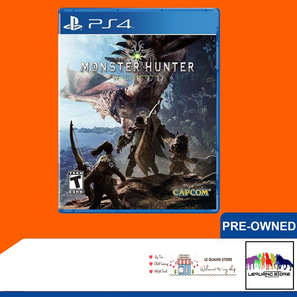 Đĩa Game PS4: Monter Hunter World