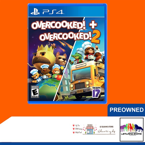 Đĩa Game PS4: Overcooked 1+2