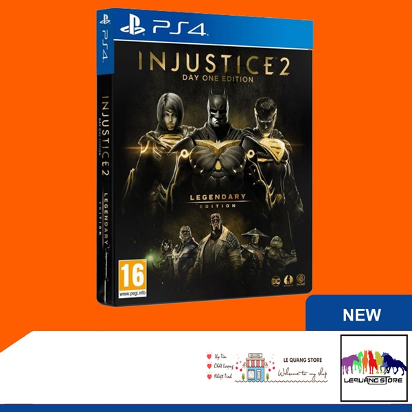Đĩa Game PS4: Injustice 2 Legendary Edition Day One Edition (Steelbook)