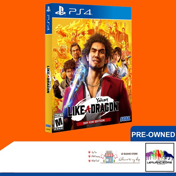Đĩa Game PS4: Yakuza: Like a Dragon [Day Ichi Steelbook Edition]