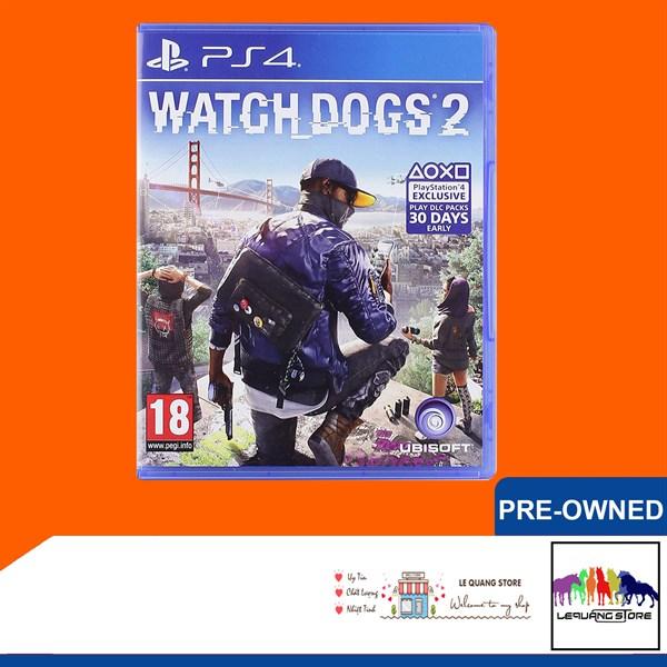 Đĩa Game PS4: Watch Dogs 2