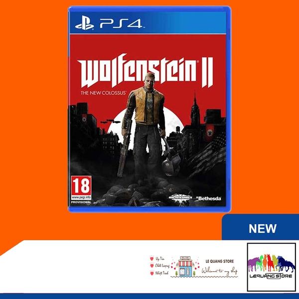 Đĩa Game PS4: Wolfenstein 2: The New Colossus