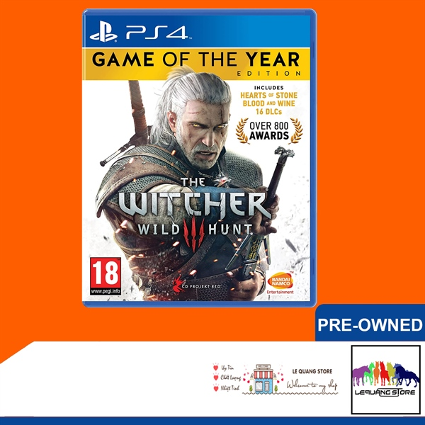 Đĩa game PS4: The Witcher 3: Wild Hunt – Complete Edition
