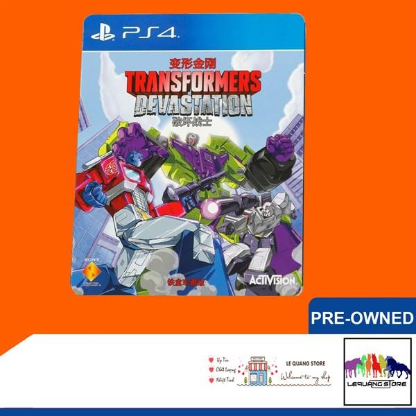Đĩa Game PS4: Transformers Devastation Limited Edition SteelBook