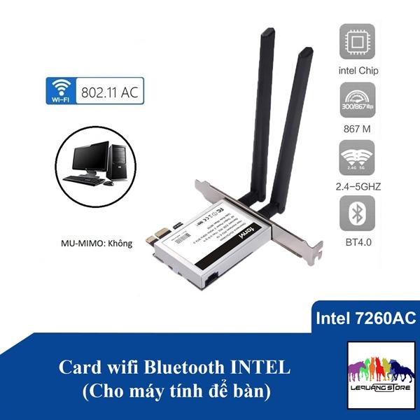 Card wifi Bluetooth INTEL (Cho máy tính để bàn)