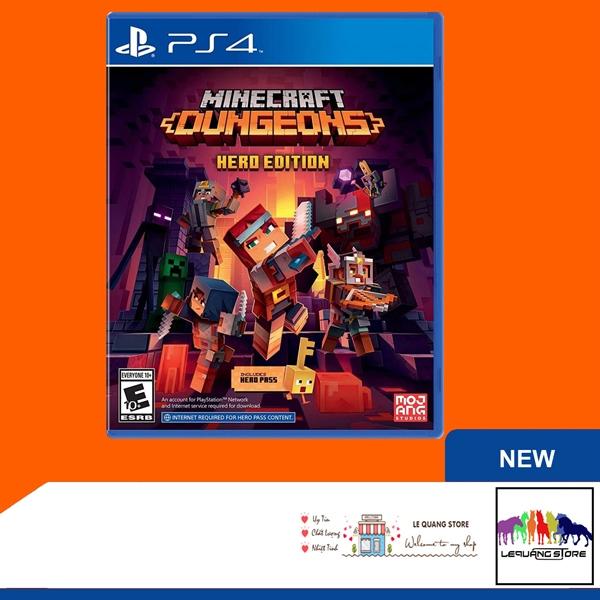 Đĩa Game PS4: Minecraft Dungeons Hero Edition