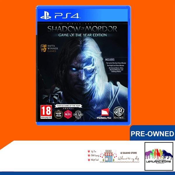 Đĩa Game PS4: Middle-earth: Shadow of Mordor